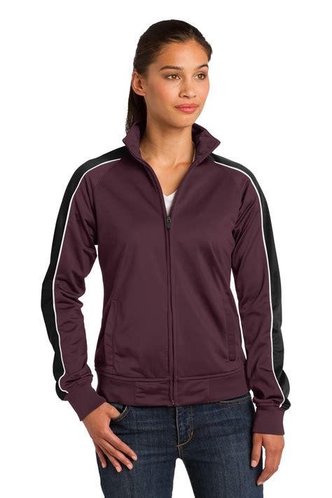 Track Jacket by Sport Tek 174 Piped Tricot Track Jacket Gearone