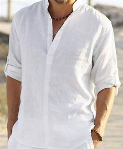 man white linen shirt beach wedding party special by With wedding dress shirts for men