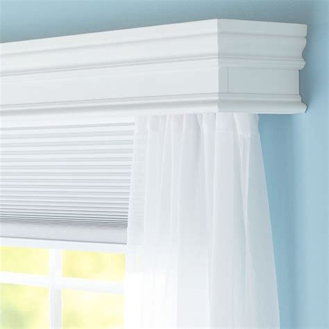 Window Cornice by Conceal A Curtain Rod Inside This Decorative Wooden