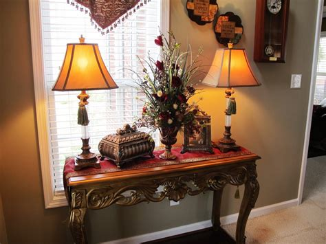 warm home decor love tassels  lamps foyer tables