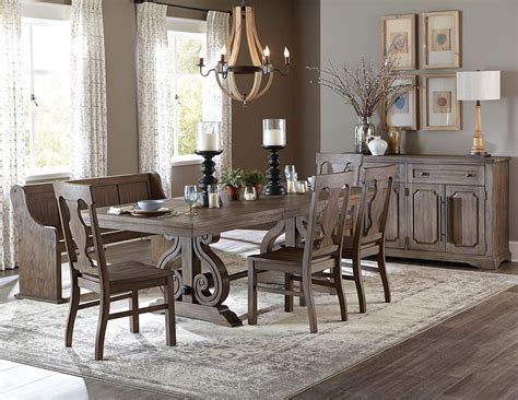 Rustic Dining Set by 6 Toulon Dining Set Rustic Finish Usa Warehouse