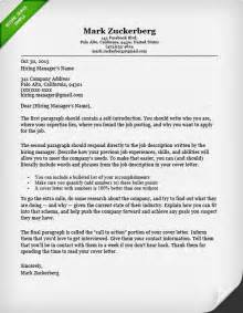 Writing A Cover Letter For A Resume by Cover Letter Sles And Writing Guide Resume Genius