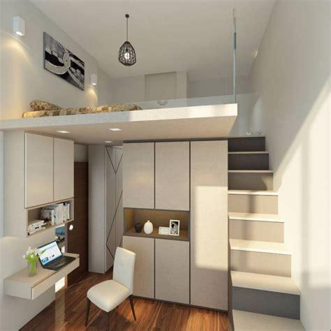 amenagement chambre mezzanine lit mezzanine adulte et aménagement de petits espaces