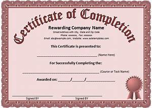 Course Completion Certificate Format Word Word Certificate Template 31 Free Download Samples