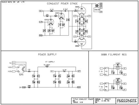 of schematics by brand audio note conquest