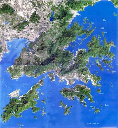 Satellite Kong Hong Map Detailed Maps Mappa