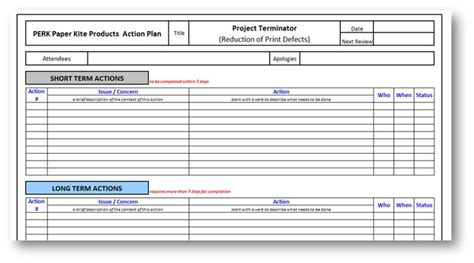 action plan template 8 tips to ensure plans are carried out quality management