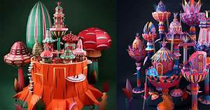 Colorful paper village installations for hermes by zim for Colorful paper village installations for hermes by zim zou