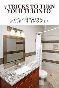 7 Tricks To Turn A Tub Into A Walk In Shower