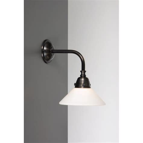 period bathroom wall light in aged brass finish
