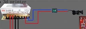 Power Supply Wiring  He3d Delta Printer