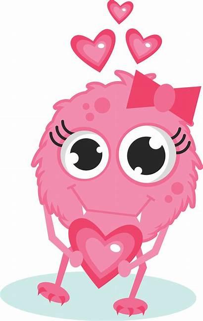 Monster Clipart Valentine Monsters Valentines Svg Cartoon