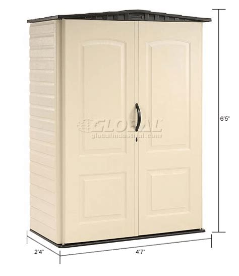 Rubbermaid Vertical Storage Shed 53 Cubic by Buildings Storage Sheds Sheds Plastic Rubbermaid