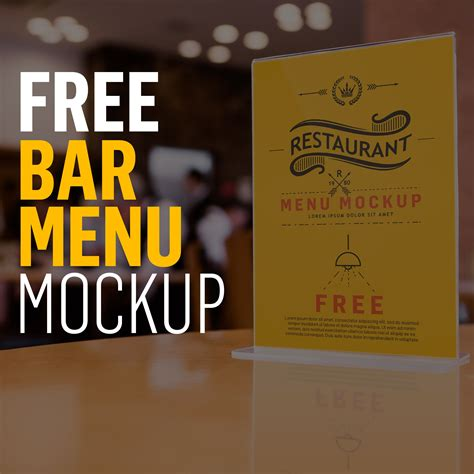 """Just replace graphics and text in smart objects with your own, and your. Check out this @Behance project: """"FREE PSD Bar/Restaurant ..."""
