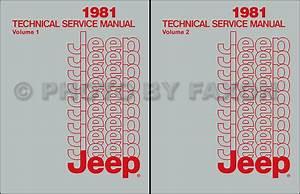 1981 Jeep Repair Shop Manual Cj 5 Cj7 Cj8 Scrabmler