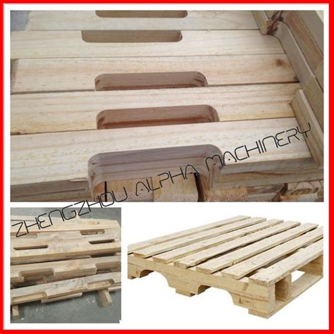 wood pallet cutting groove stringers making wood notching