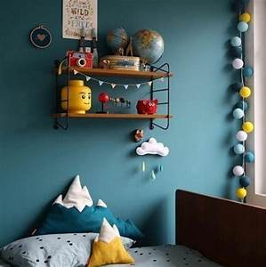 beautiful chambre bleu canard et jaune photos design With beautiful bleu canard avec quelle couleur 4 1001 idees creer une deco en bleu et jaune conviviale