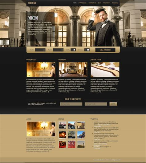 hotel wordpress themes  athemes