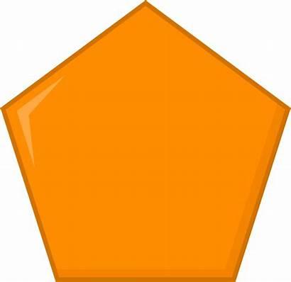 Pentagon Orange Objects Inanimate Clipart January Transparent