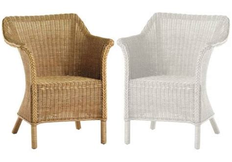 industries wicker chair or white