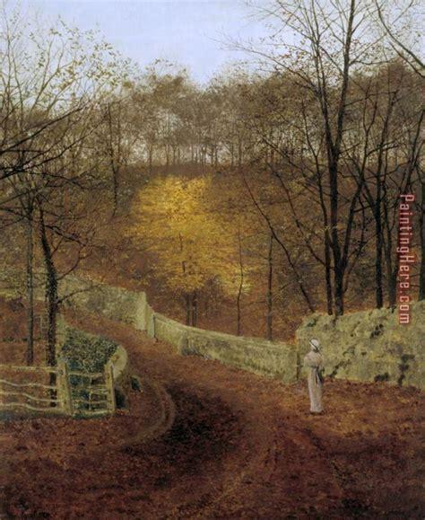 john atkinson grimshaw autumn herbst  painting anysize