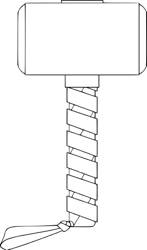coloriage marteau de thor à imprimer