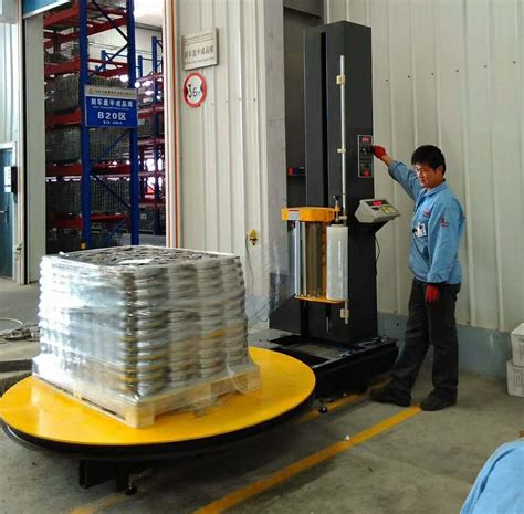 pallet stretch wrapping machine  scale