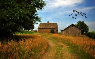 Rustic Country Farm Landscape