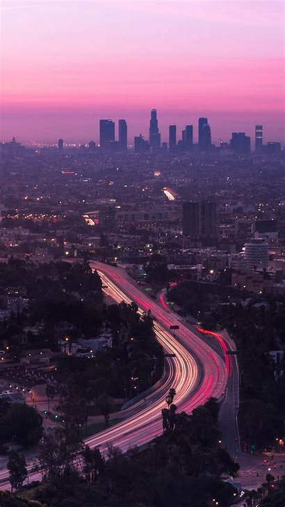 Aerial Road Angeles Sunset Iphone United States