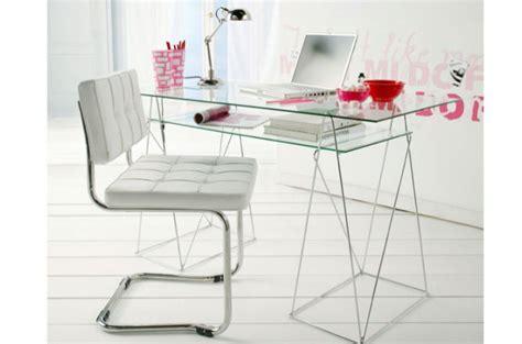 bureau en verre pas cher bureau design verre metal maison design sphena com