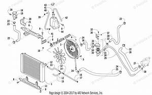 Arctic Cat Atv 2018 Oem Parts Diagram For Cooling Assembly