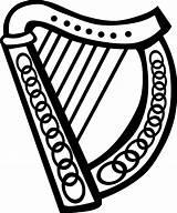 Coloring Harp Celtic Getcolorings sketch template