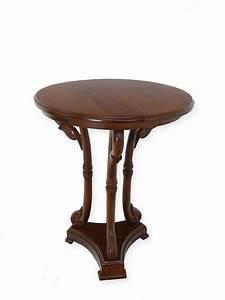 Runder Tisch 60 Cm : tisch beistelltisch telefontisch rund im antiken stil im nussbaumfarbton 5403 tische ~ Bigdaddyawards.com Haus und Dekorationen