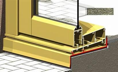 Sub Door Sliding Framing Sill Aluminium Leg