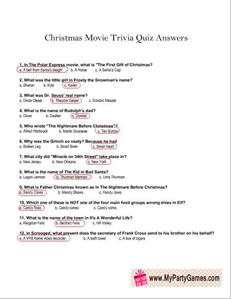 christmas  trivia quiz answer sheetpng