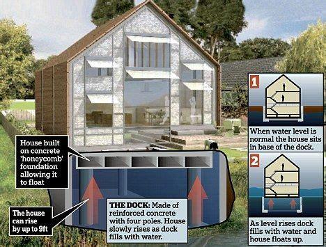 introducing britains  amphibious house  rises  water  escape  flood floating