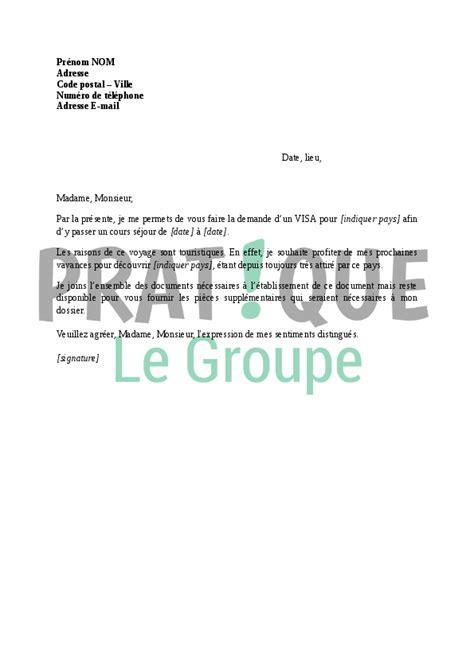 demande d emploi chef de cuisine lettre demande de visa touristique pratique fr