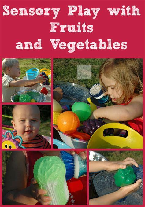 wash  farm fruits  vegetables sensory play
