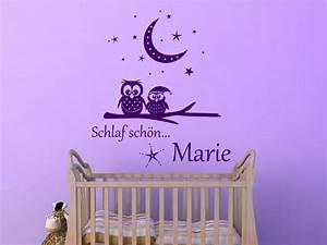 Wandtattoo Baby Mädchen : traumhaftes wandtattoo schlaf sch n eulen von ~ Buech-reservation.com Haus und Dekorationen