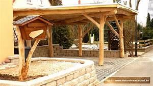 naturstamm carport selber bauen vivaverdeco With französischer balkon mit garten blockhaus selber bauen