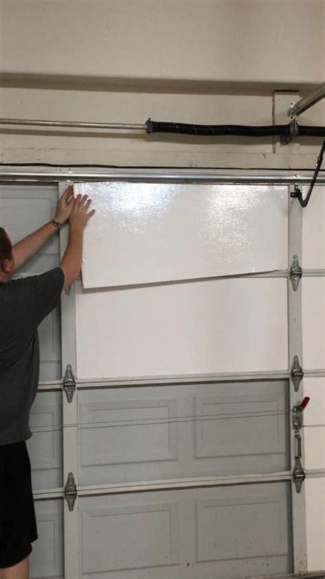 installing garage door insulation insulfoam diy garage door insulation installation in