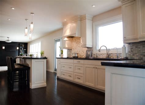kitchen with black countertops and white cabinets room by room inspiration series the kitchen fab fatale 9849