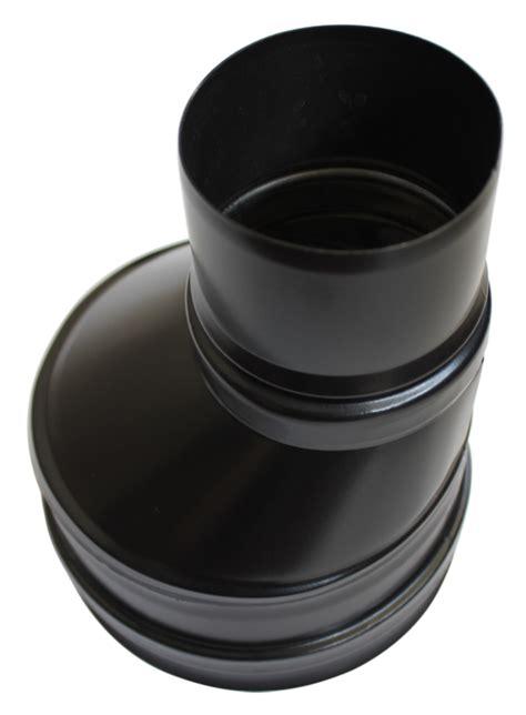 Reducteur Cheminee 200 150 by R 233 Duction Conique D 233 Centr 233 E 80 M 150 F Noir