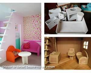 Fabriquer Meuble En Carton Pour Barbie Table De Lit
