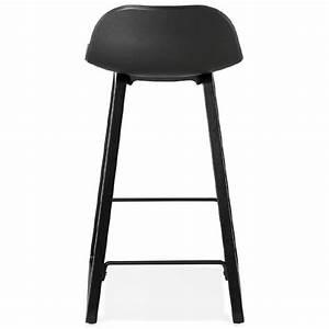 Tabouret Mi Hauteur : tabouret de bar chaise de bar mi hauteur design obeline mini noir ~ Teatrodelosmanantiales.com Idées de Décoration