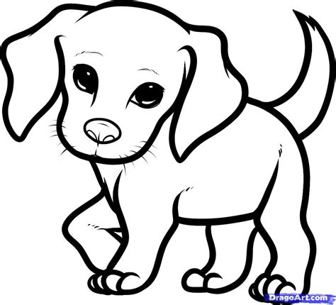 puppy drawings cute   draw animals easy drawingsof