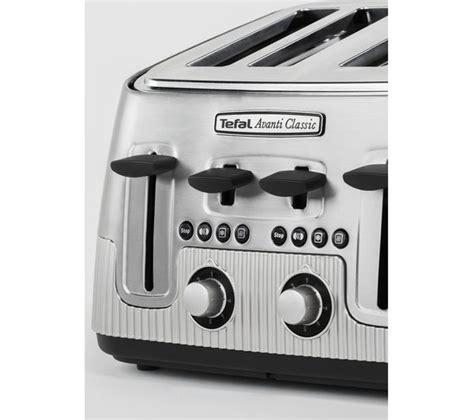 tefal toasters uk buy tefal avanti classic 4 slice toaster silver free