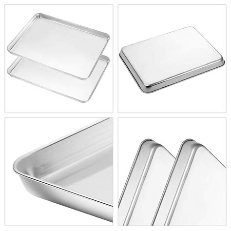 xbaking plate rack set stainless steel baking pan tray biscuit plate  wl ebay
