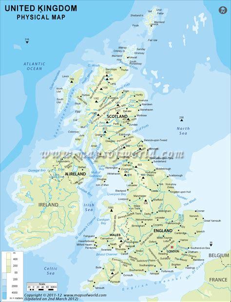 Uk Physical Map, Physical Map Of United Kingdom