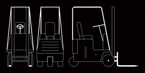 forklift dwg block  autocad designs cad